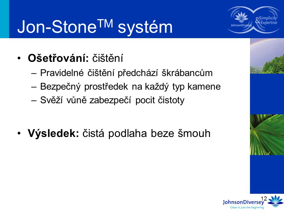 Jon-StoneTM systém Ošetřování: čištění