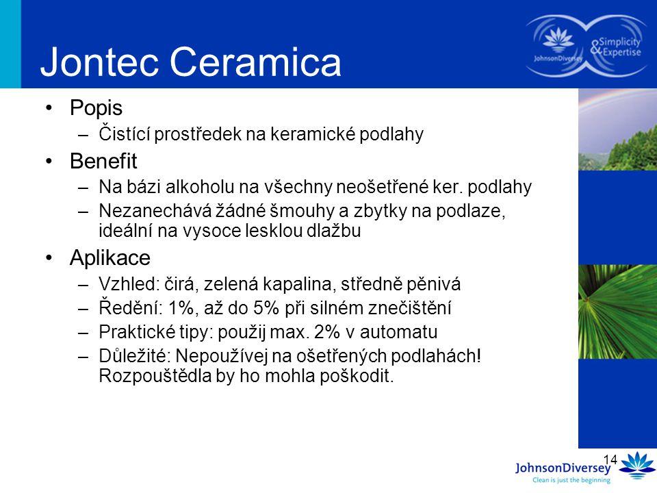 Jontec Ceramica Popis Benefit Aplikace