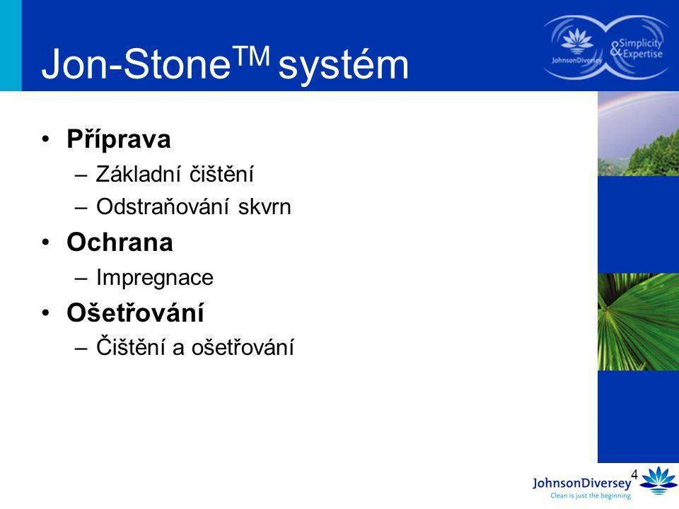 Jon-StoneTM systém Příprava Ochrana Ošetřování Základní čištění
