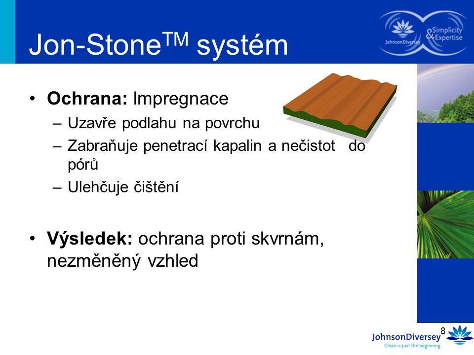 Jon-StoneTM systém Ochrana: Impregnace