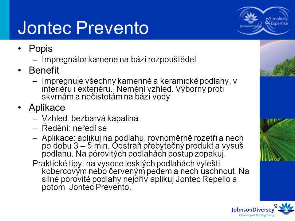 Jontec Prevento Popis Benefit Aplikace