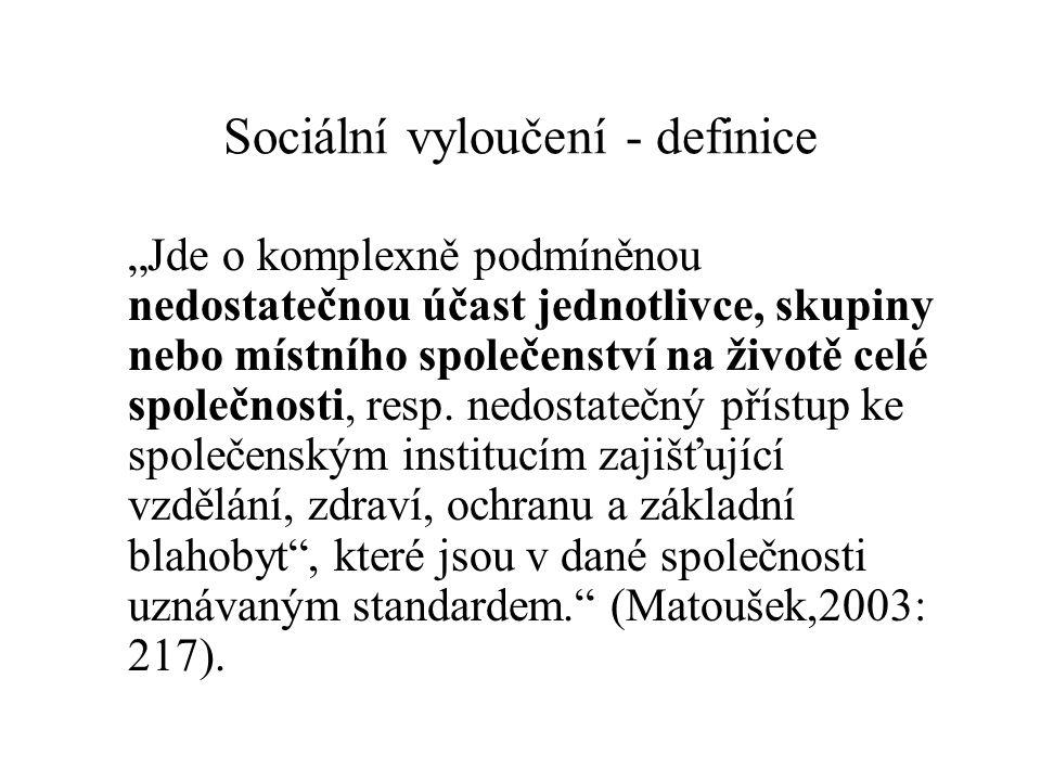Sociální vyloučení - definice
