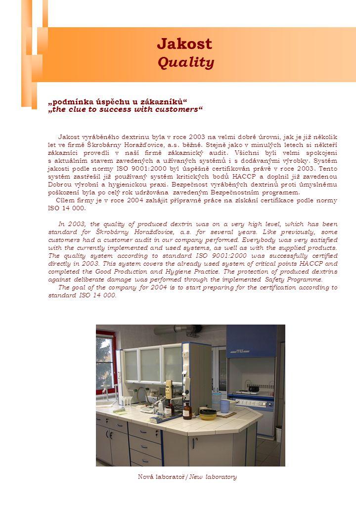 """Jakost Quality """"podmínka úspěchu u zákazníků"""