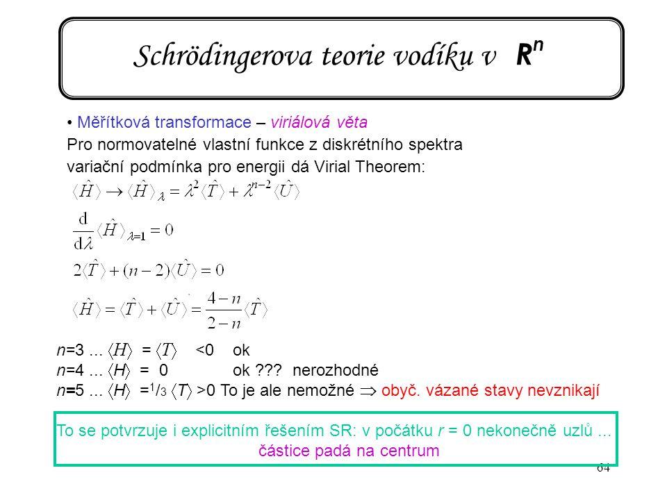 Schrödingerova teorie vodíku v Rn