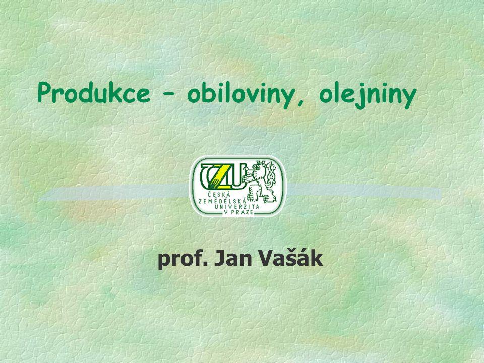 Produkce – obiloviny, olejniny