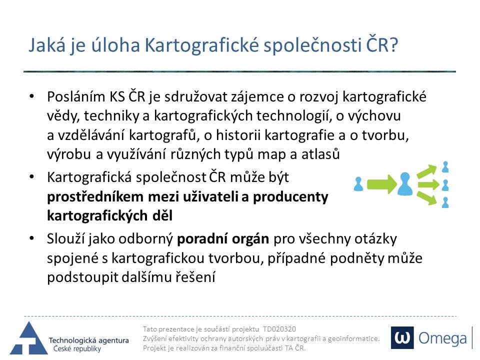 Jaká je úloha Kartografické společnosti ČR
