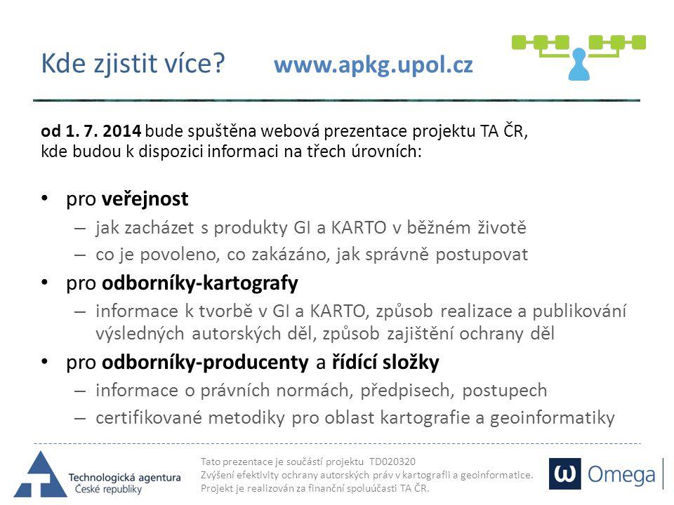 Kde zjistit více www.apkg.upol.cz