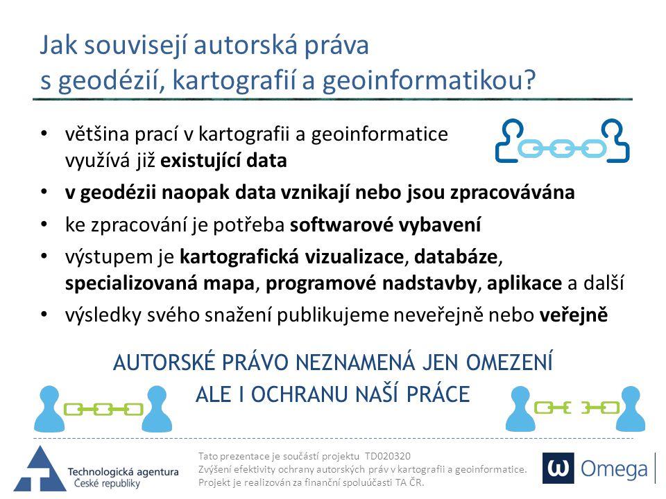Jak souvisejí autorská práva s geodézií, kartografií a geoinformatikou