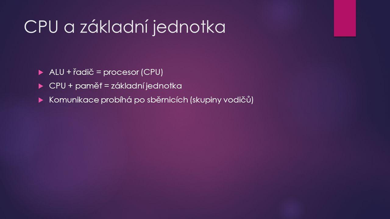 CPU a základní jednotka