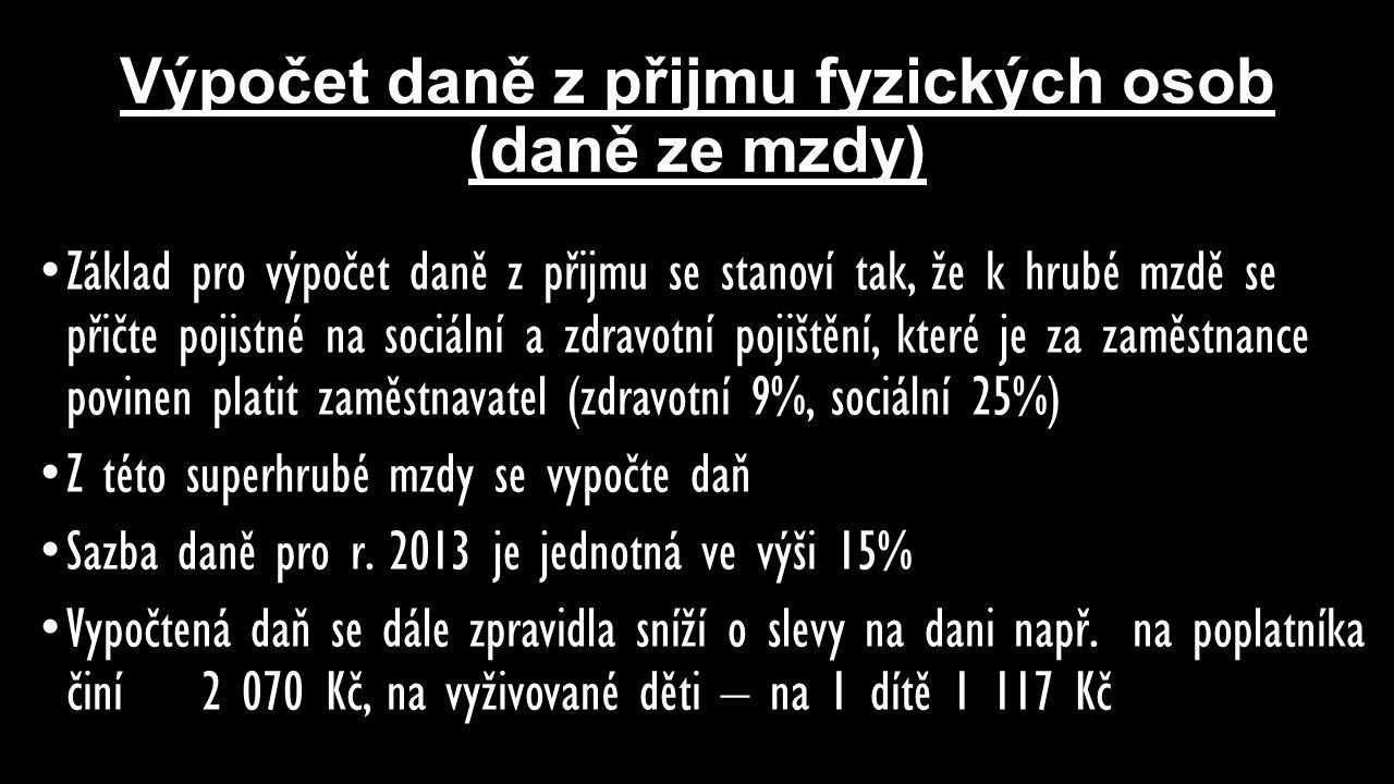 Výpočet daně z přijmu fyzických osob (daně ze mzdy)