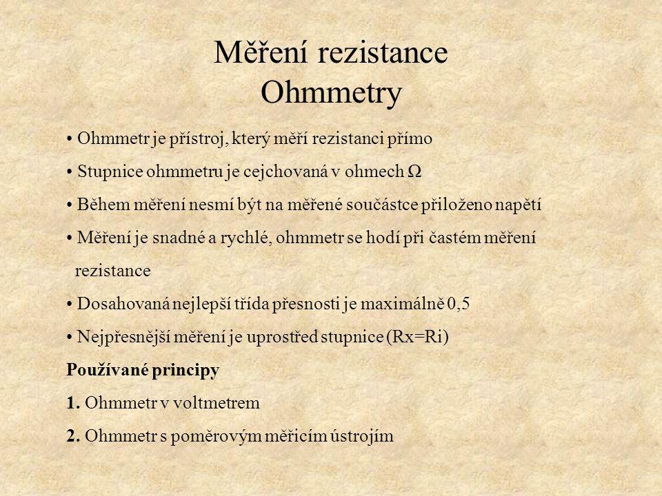 Měření rezistance Ohmmetry