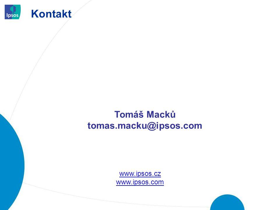 Kontakt Tomáš Macků tomas.macku@ipsos.com www.ipsos.cz www.ipsos.com