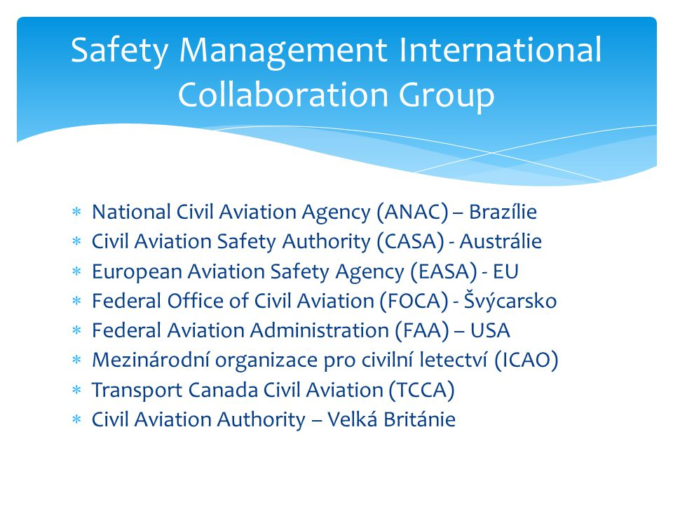 Safety Management International Collaboration Group
