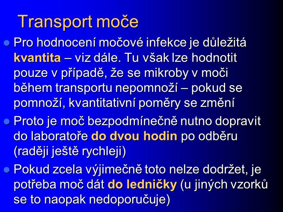 Transport moče