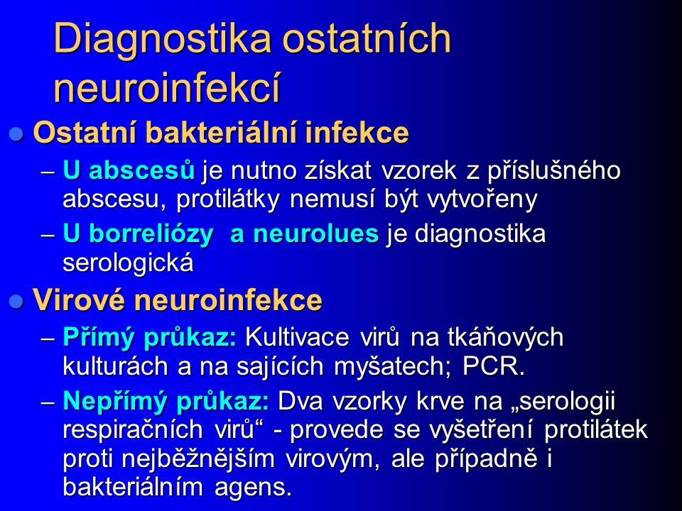 Diagnostika ostatních neuroinfekcí