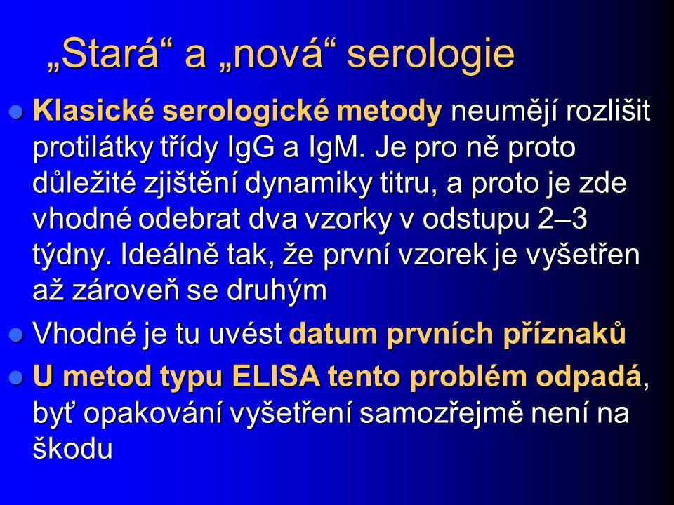 """""""Stará a """"nová serologie"""