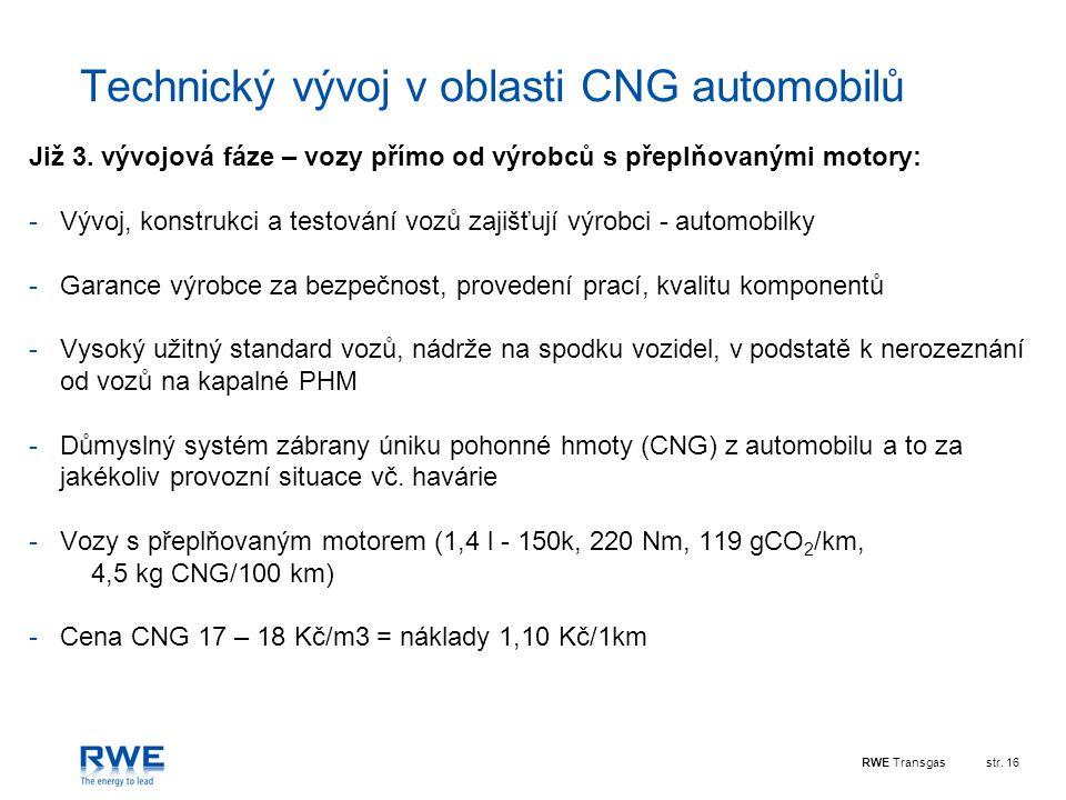 Technický vývoj v oblasti CNG automobilů