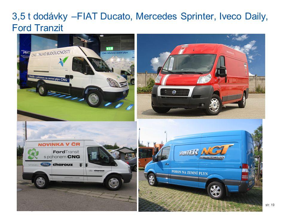 3,5 t dodávky –FIAT Ducato, Mercedes Sprinter, Iveco Daily, Ford Tranzit