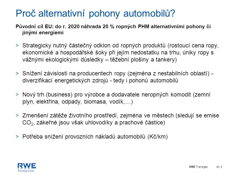 Proč alternativní pohony automobilů