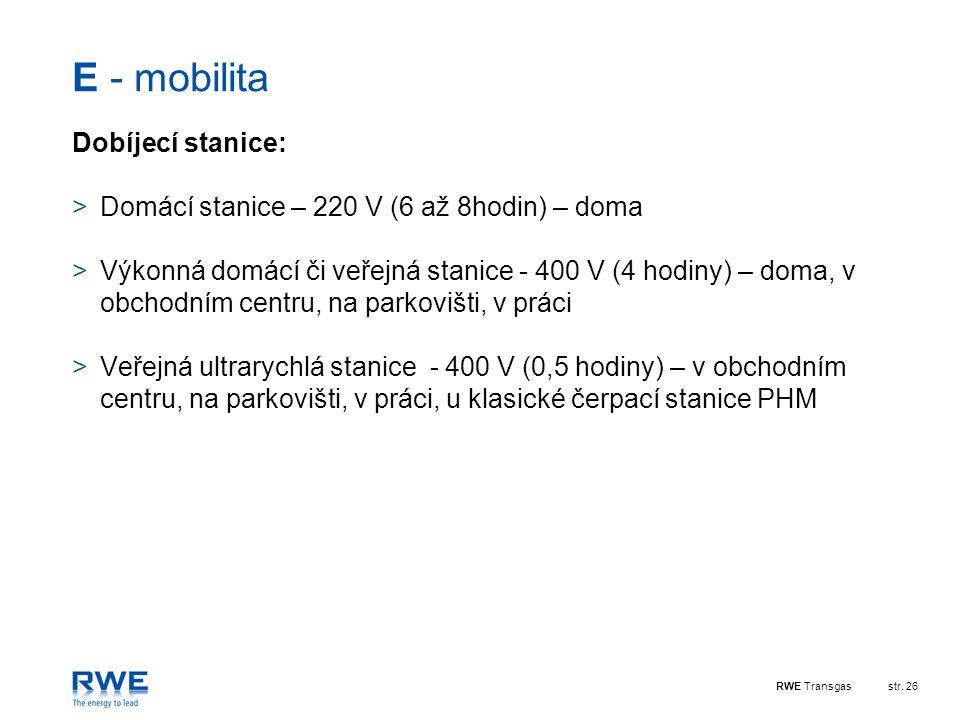 E - mobilita Dobíjecí stanice: