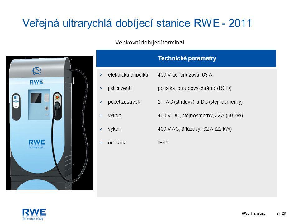 Veřejná ultrarychlá dobíjecí stanice RWE - 2011