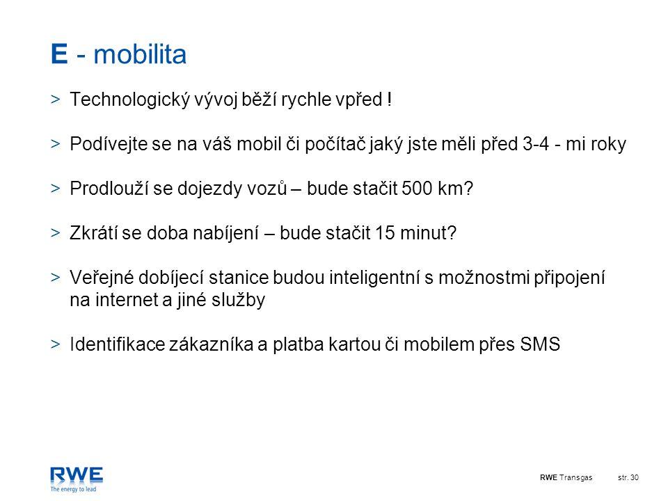 E - mobilita Technologický vývoj běží rychle vpřed !