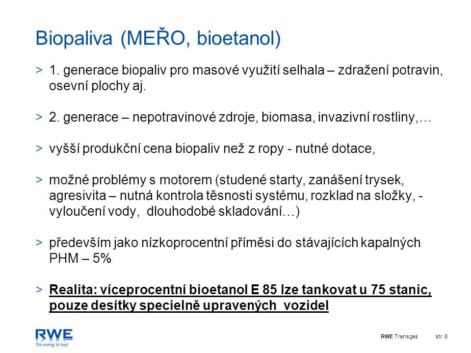 Biopaliva (MEŘO, bioetanol)