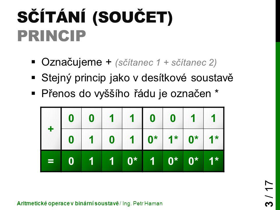 Sčítání (součet) princip