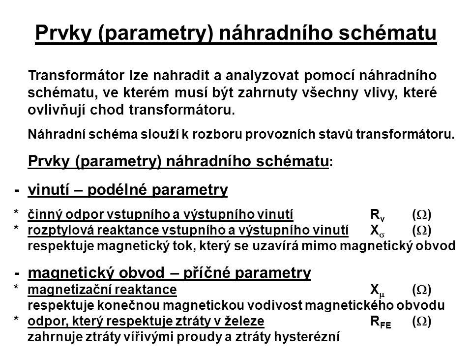 Prvky (parametry) náhradního schématu