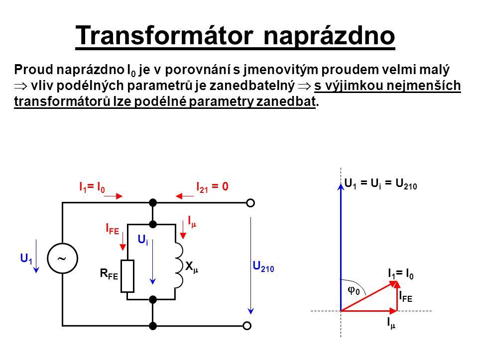 Transformátor naprázdno