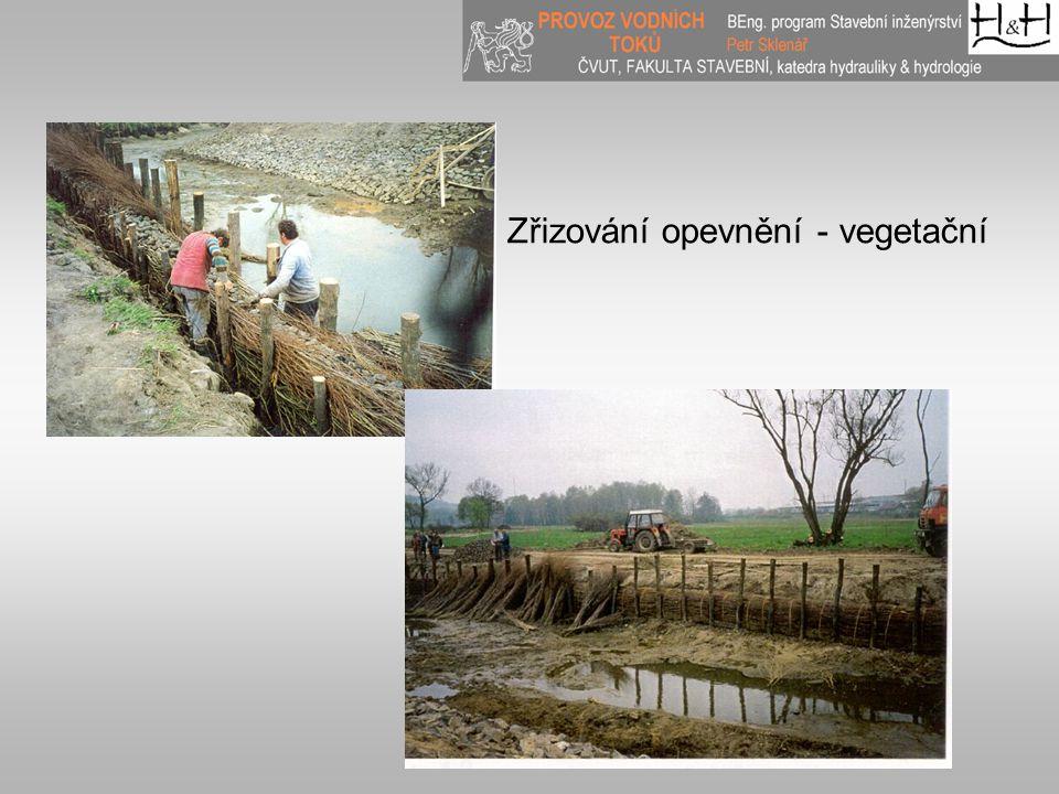 Zřizování opevnění - vegetační