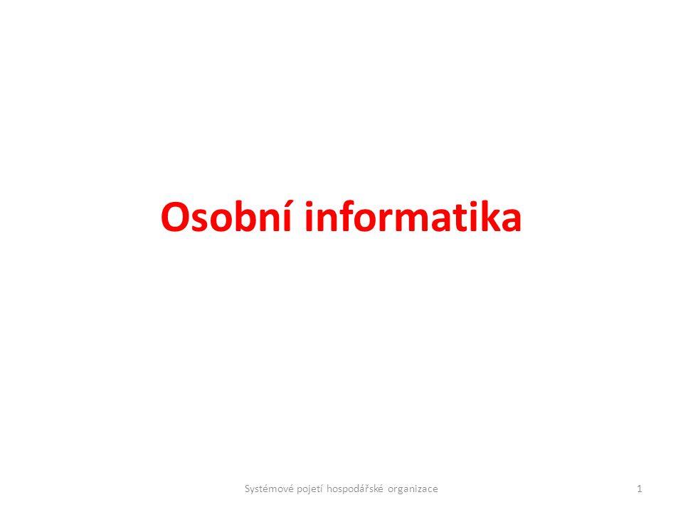 Systémové pojetí hospodářské organizace