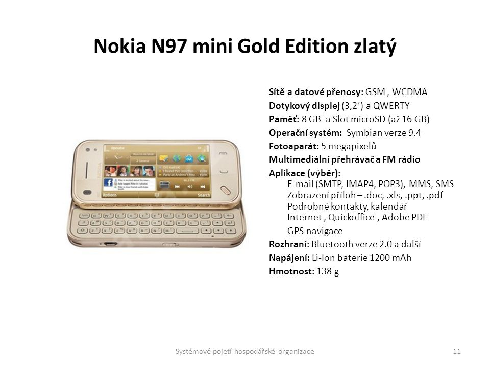 Nokia N97 mini Gold Edition zlatý