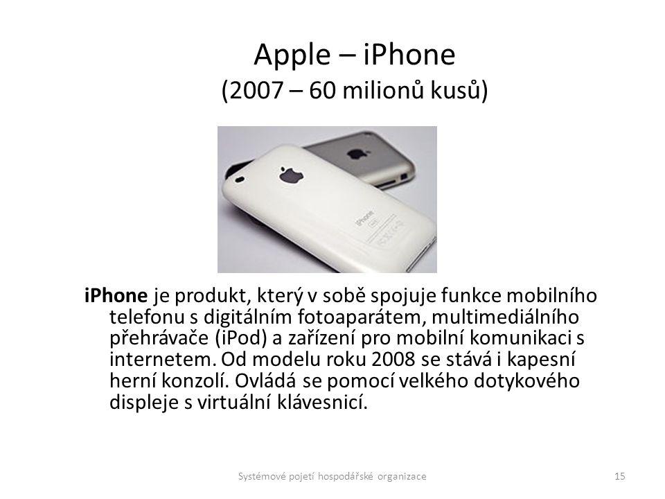 Apple – iPhone (2007 – 60 milionů kusů)