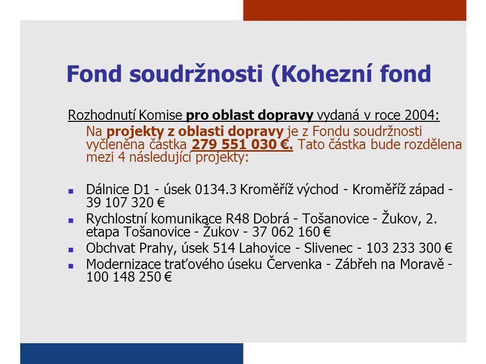 Fond soudržnosti (Kohezní fond