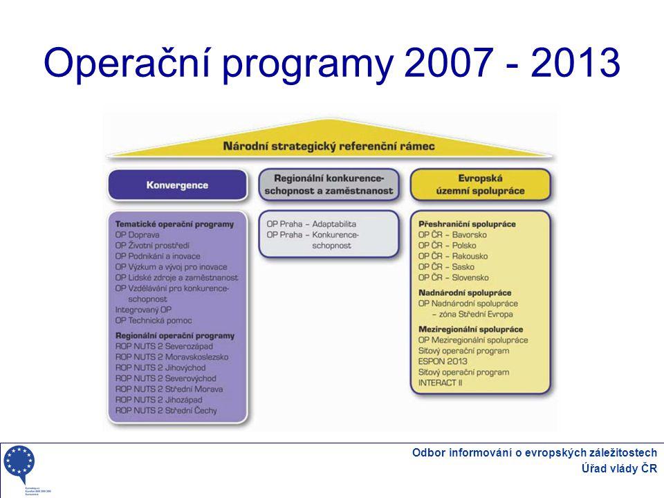 Operační programy 2007 - 2013