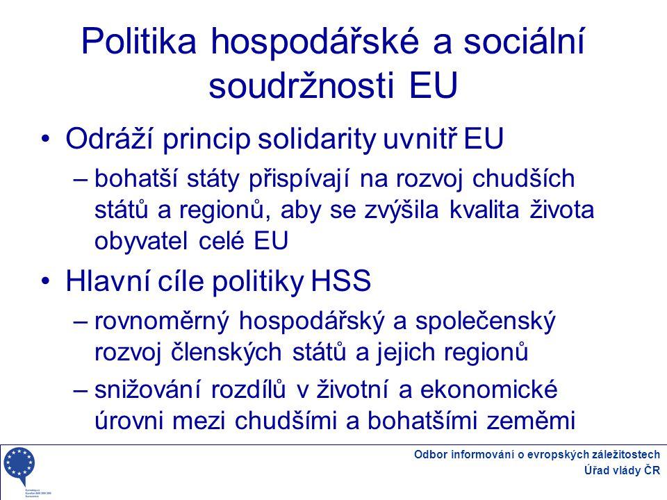 Politika hospodářské a sociální soudržnosti EU