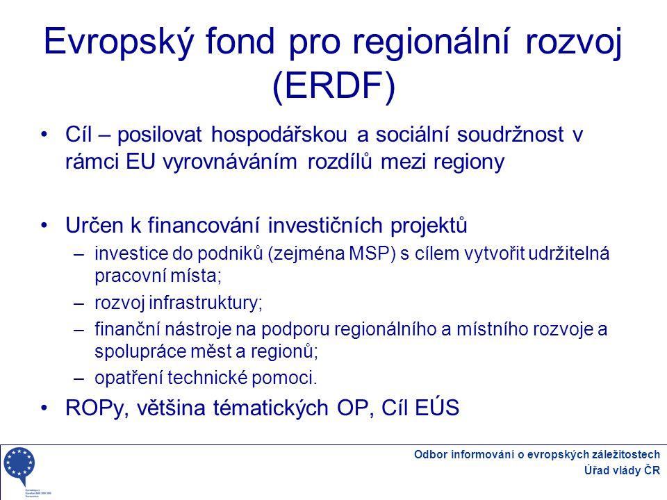 Evropský fond pro regionální rozvoj (ERDF)