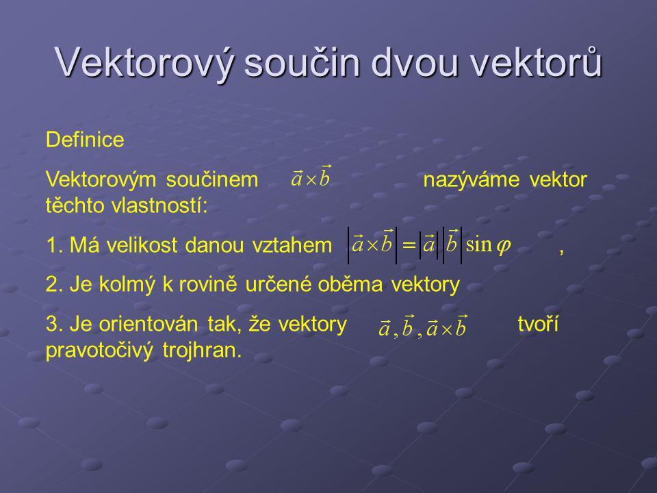 Vektorový součin dvou vektorů