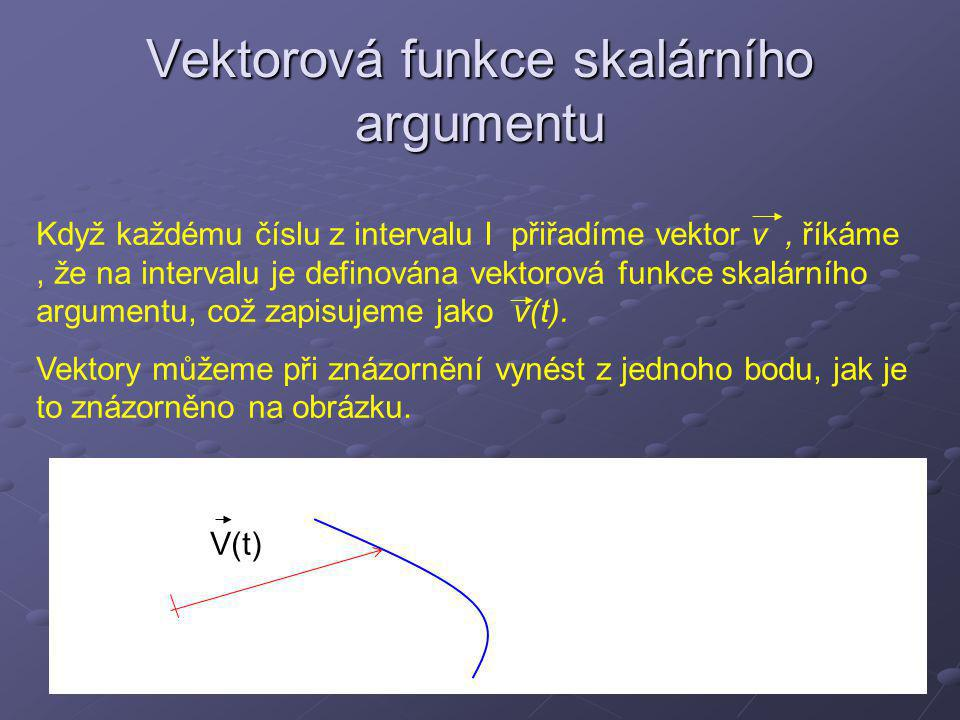 Vektorová funkce skalárního argumentu