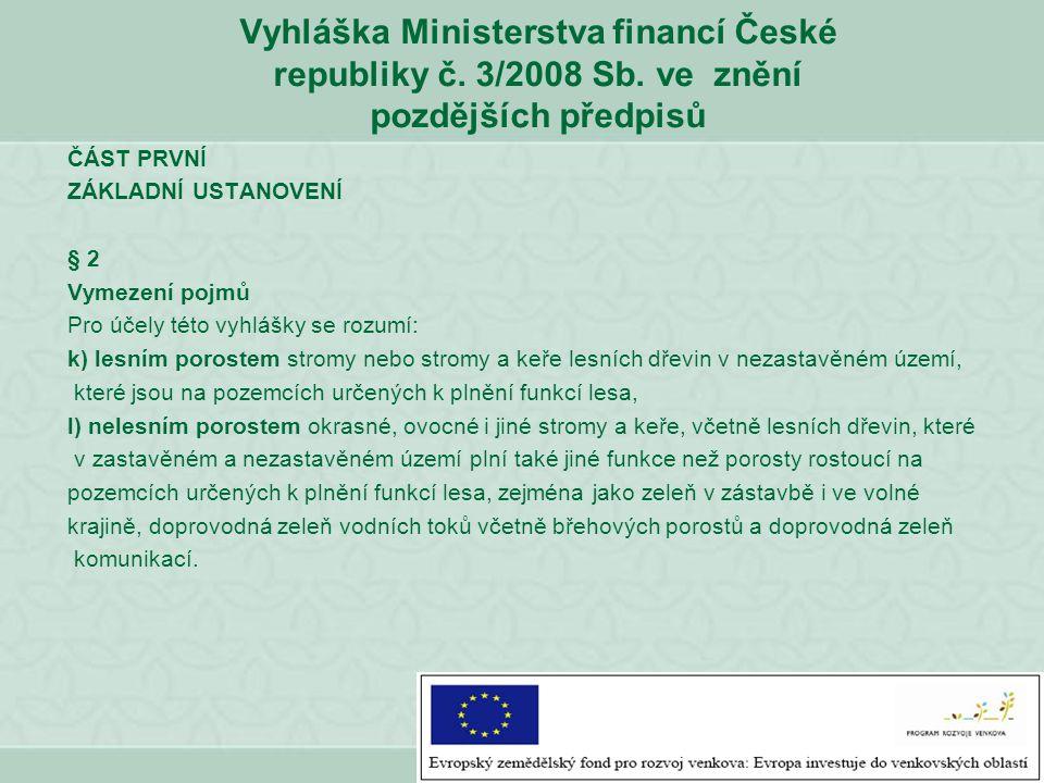 Vyhláška Ministerstva financí České republiky č. 3/2008 Sb