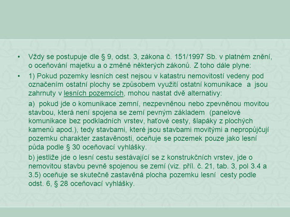 Vždy se postupuje dle § 9, odst. 3, zákona č. 151/1997 Sb