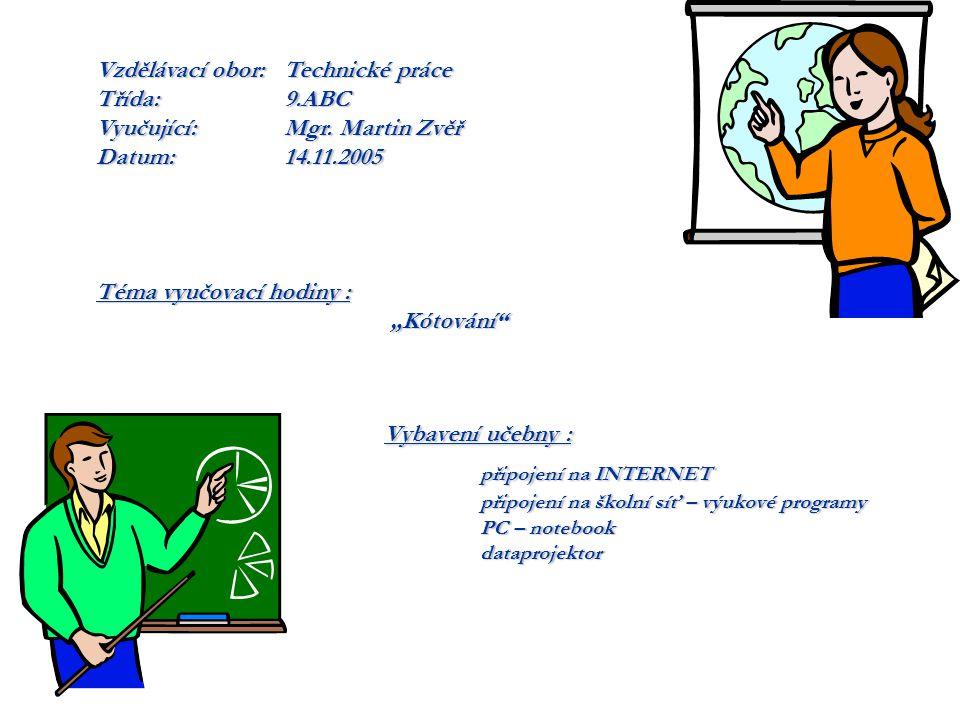 Vybavení učebny : připojení na INTERNET