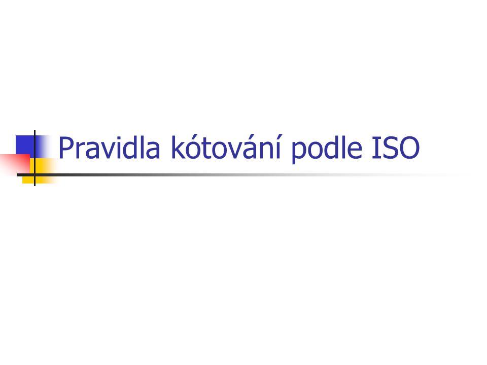 Pravidla kótování podle ISO