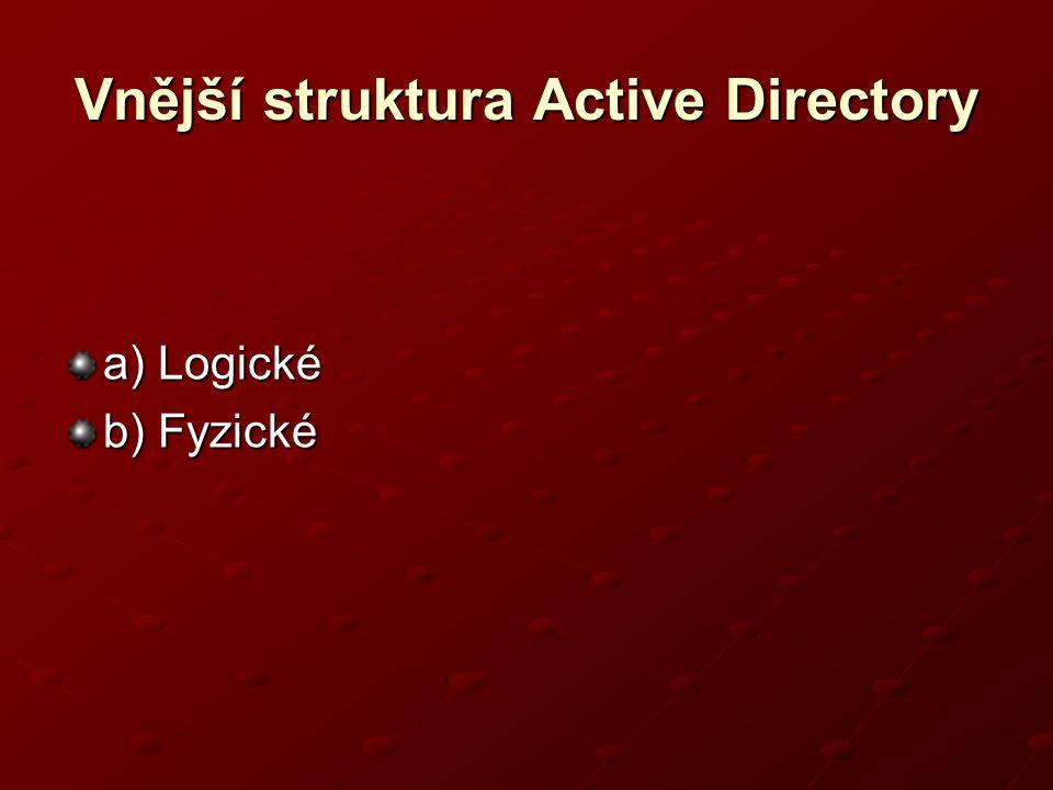Vnější struktura Active Directory