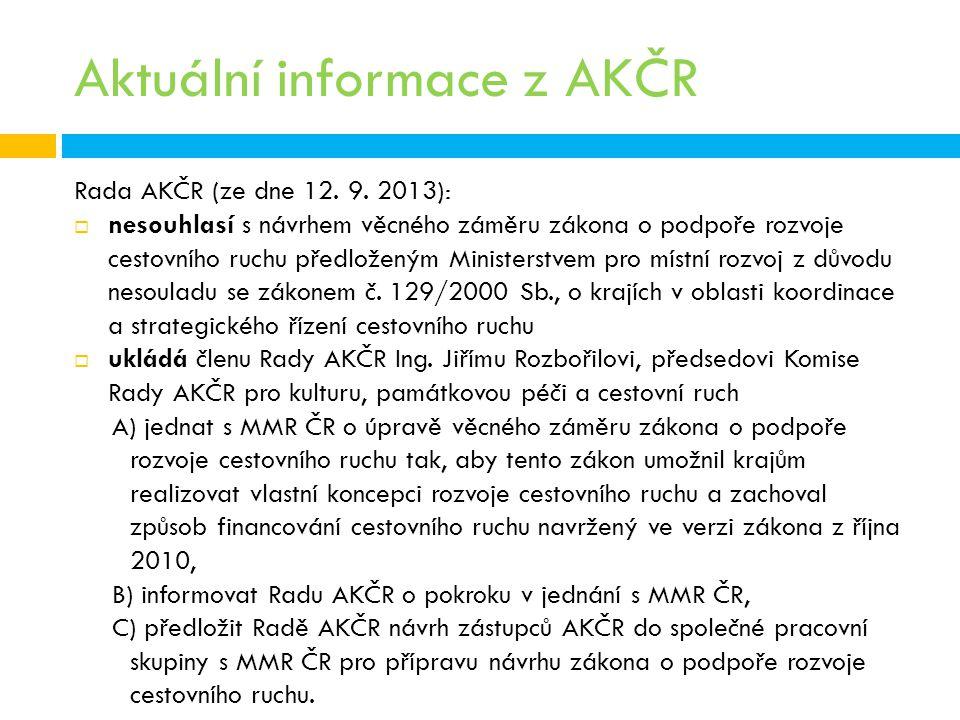 Aktuální informace z AKČR