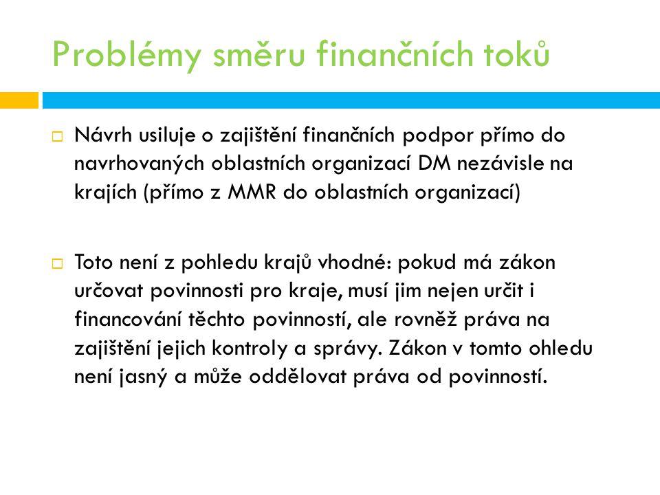 Problémy směru finančních toků