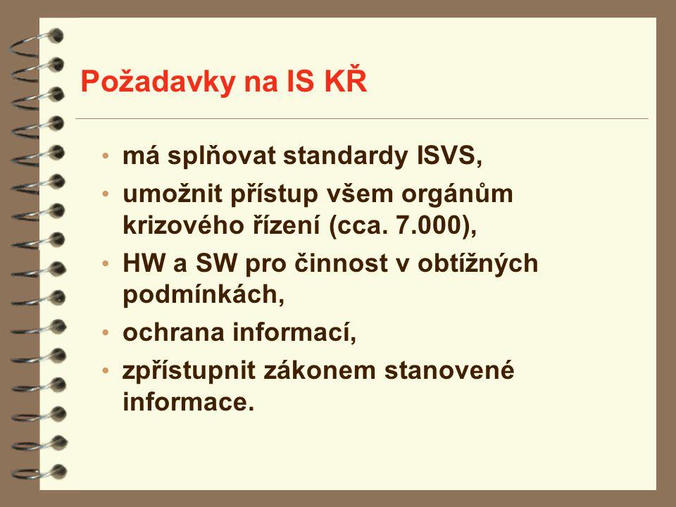 Požadavky na IS KŘ má splňovat standardy ISVS,