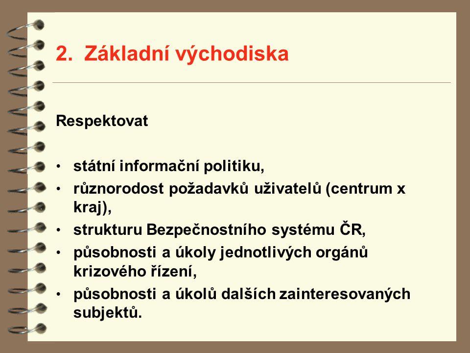 2. Základní východiska Respektovat státní informační politiku,
