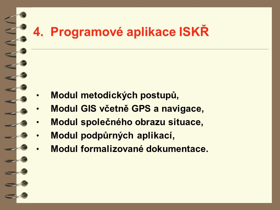 4. Programové aplikace ISKŘ